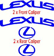 LEXUS CURVED HIGH TEMPERATURE CALIPER DECAL SET